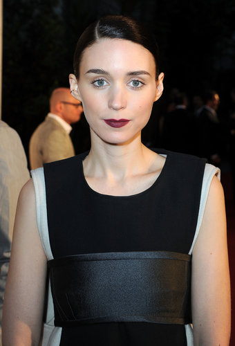 A side-parted updo and a moody lip hue were Rooney Mara's beauty choices at the For the Love of Cinema event at Cannes.