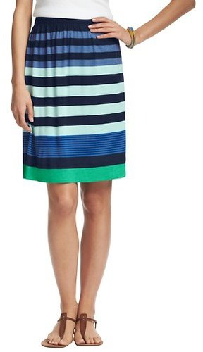 Tall Mixed Stripe Jersey Skirt