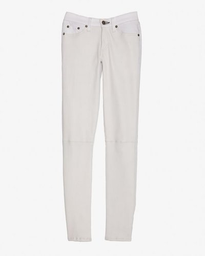 Rag &amp; Bone/jean Rag &amp; Bone/jean Midrise Hyde Leather Panel Skinny