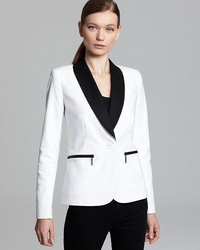 MICHAEL Michael Kors Stretch Cotton Blazer