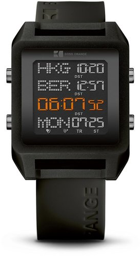 '1512815' | Black Silicon Strap Watch by BOSS Orange