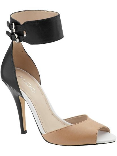 These Aldo heels go with everything, and I love the comfort and sexiness of the ankle straps. This is yet another pair that can easily take me from day to night! See more Style Shortcuts