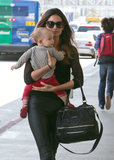 Lily Aldridge and her daughter Dixie Followill took off together out of LA on Friday.