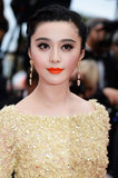 Fan Bingbing wore dangling Chopard earrings.