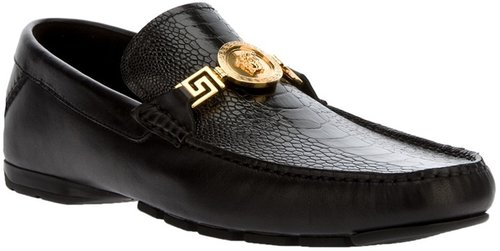 Versace 'Ostrich' car shoe
