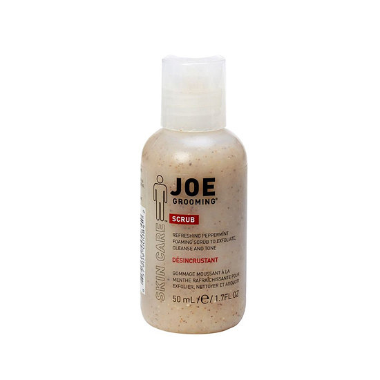 Keep your legs and arms silky smooth by bringing your exfoliant with you. Joe Grooming Travel-Size Scrub ($6) gently foams while sloughing off dead skin cells.