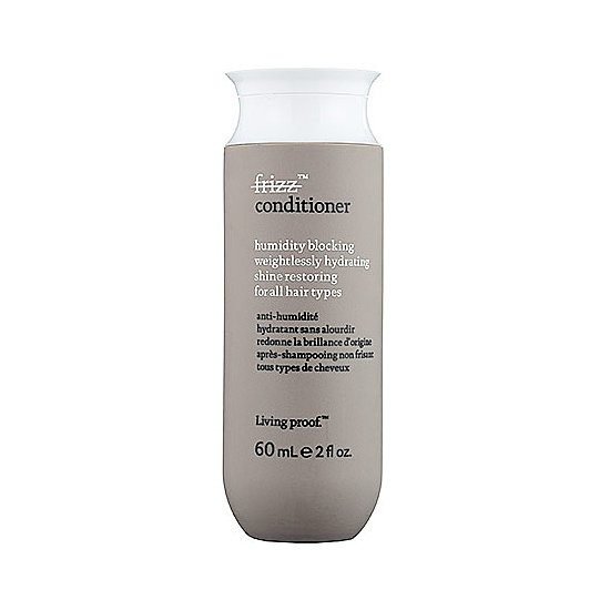 Keep your strands moisturized and frizz-free with Living Proof Frizz Conditioner Travel Size ($10). It's silicone-free, which means no weighing down your hair.