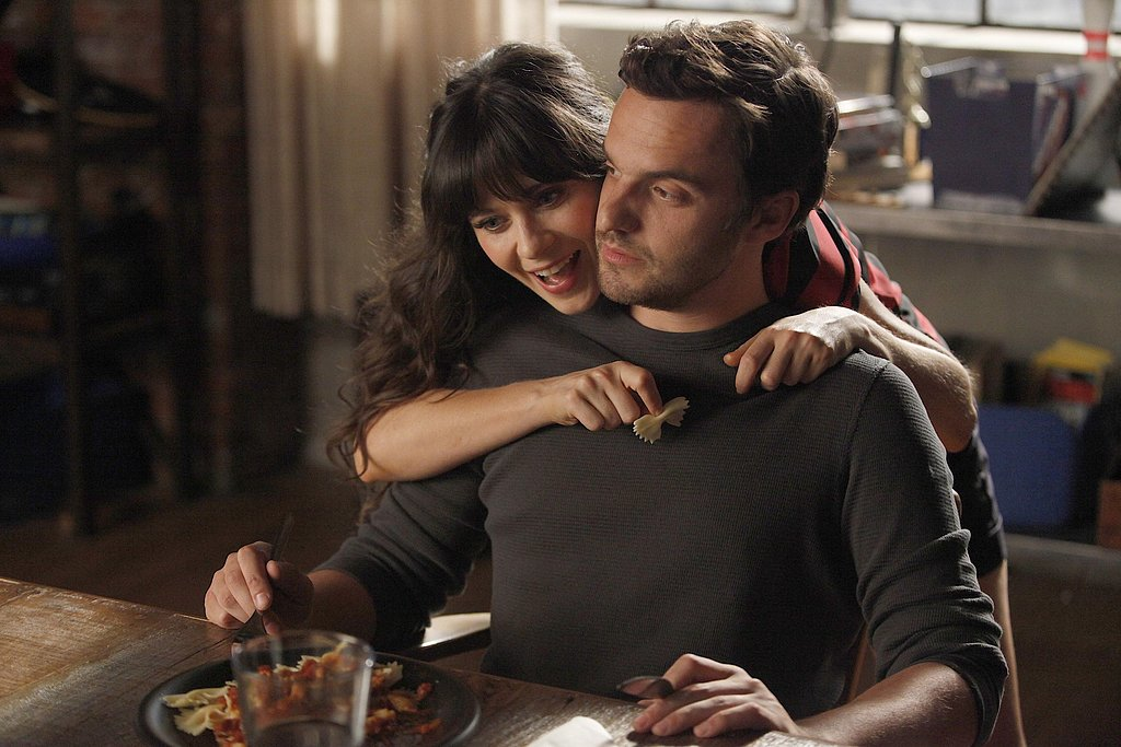 "Even when they're ""just friends,"" Nick and Jess manage to get touchy-feely."