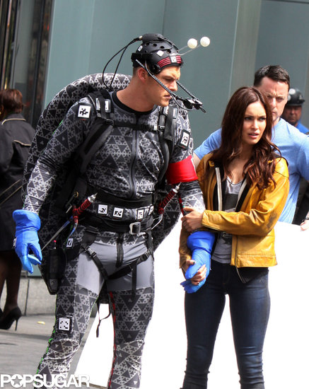 Megan Fox held onto Alan Ritchson during a scene.