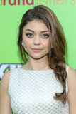 Leave some strands hanging out of your braid, like Sarah Hyland did at the Skip and Donate Gala, for a fun, casual style.
