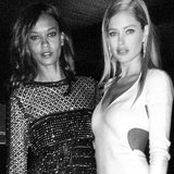 Doutzen Kroes and Liya Kebede posed together at a Cannes event. Source: Instagram user doutzenkroes1