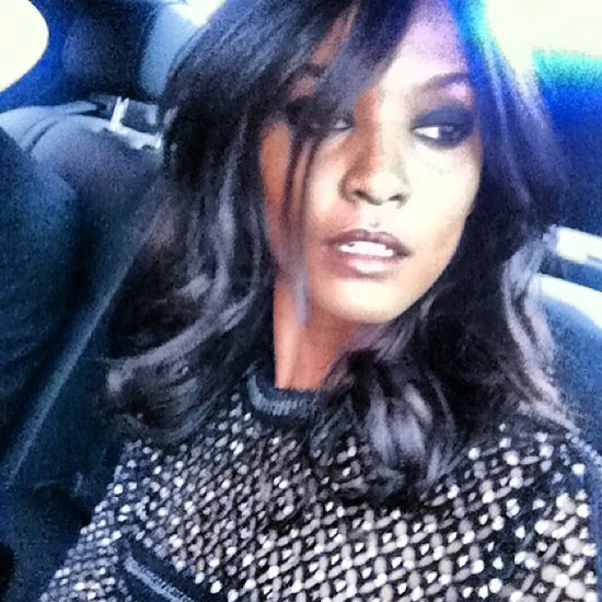 Liya Kebede snapped a photo of her smoky eye makeup and gorgeous Roberto Cavalli dress. Source: Instagram user liyakebede