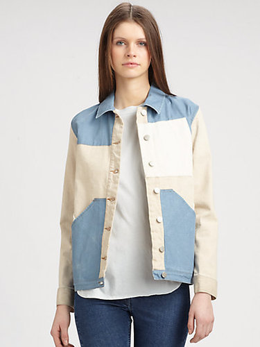 Surface To Air Denim Colorblock Jacket