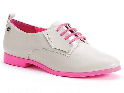 Calvin Klein Lace Up Oxford Flats - Kelcey Colorblock