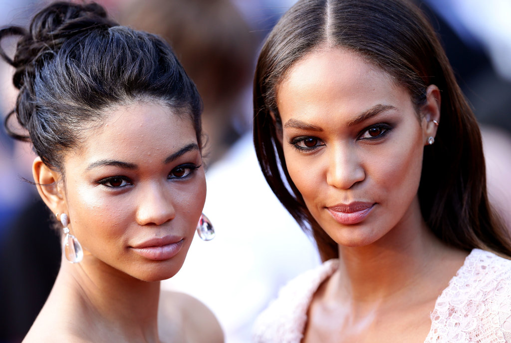 Chanel Iman teamed up with Joan Smalls at the red carpet premiere of Cleopatra in Cannes on Tuesday.