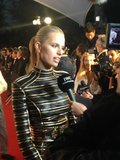 Karolína Kurková walked the red carpet in a sexy Balmain dress. Source: Twitter user IWC