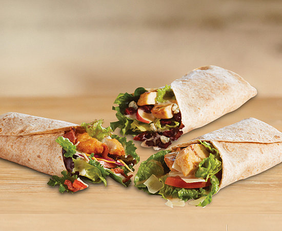 Chicken, Apple & Cranberry Salad Wrap