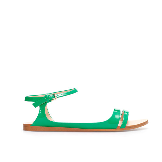 A grassy green like Zara's ankle-strap style ($40) evokes memories of lazy Summer afternoons.