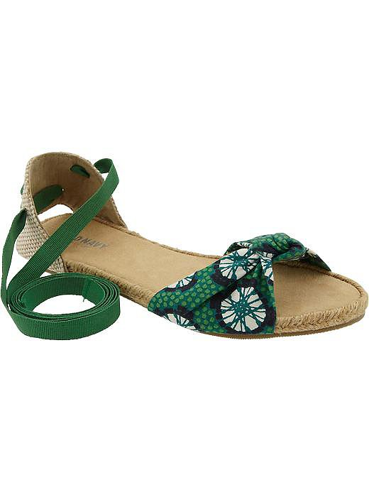 Lace up in these grassy green Old Navy espadrilles ($20).