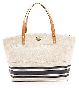 The epitome of classic Summer style that you can take anywhere with you — that's how we think of this Tory Burch Theresa EW Tote ($250).