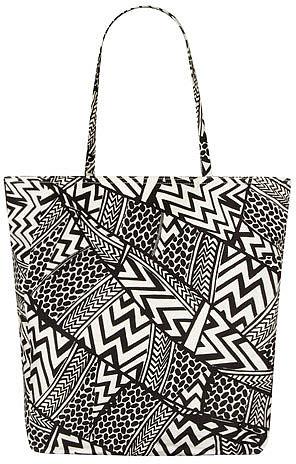 Black/white graphica shopper
