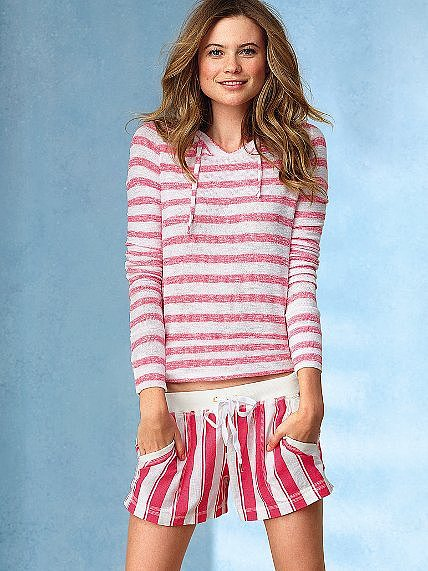 These Victoria's Secret striped shorts ($44) take classic stripes and give them a fun-loving flair.