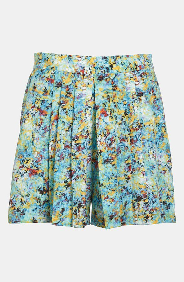 These Wayf pleated print shorts ($48) are great for gals who want a roomier cut but don't want to sacrifice femininity.