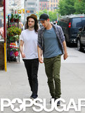 Tom Sturridge and Andrew Garfield made their way to lunch.