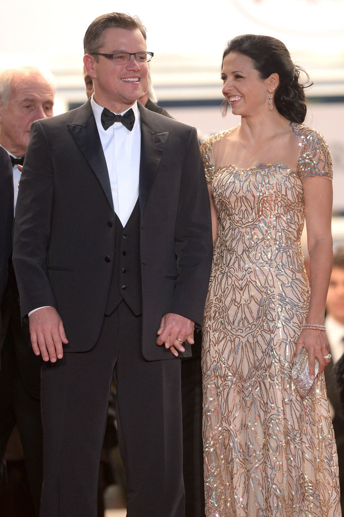 Matt Damon and Luciana Barroso in 2013