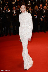 Elsa Zylberstein in Giorgio Armani at the Premiere of Only God Forgives