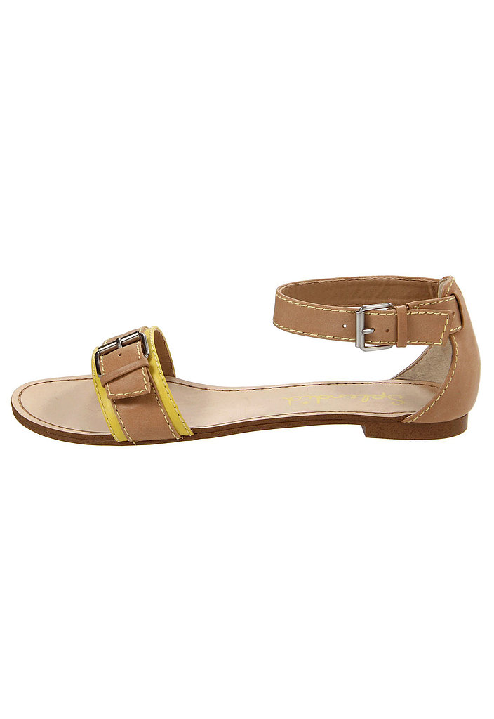 A wardrobe-friendly neutral brightens up with a touch of yellow on Splendid's double-buckle style ($48, originally $89).