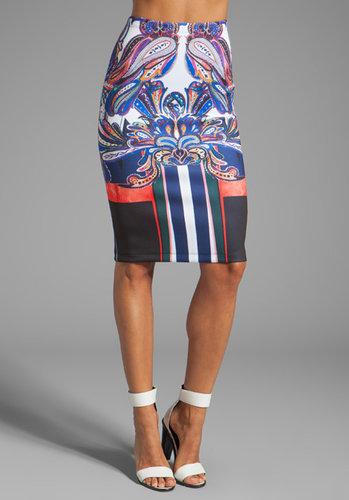 Clover Canyon Geometric Owl Neoprene Skirt