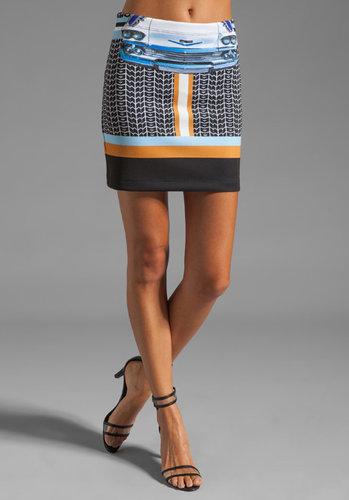 Clover Canyon Petal to the Metal Neoprene Skirt