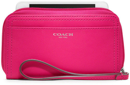 Coach Leather East/West Universal Case