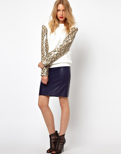 Lavish Alice PU Pencil Skirt