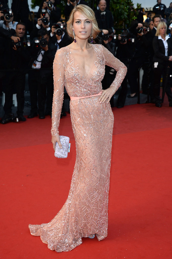 Petra Nemcova lightened things up in a nude embellished gown and Chopard jewels at the All Is Lost premiere at Cannes.