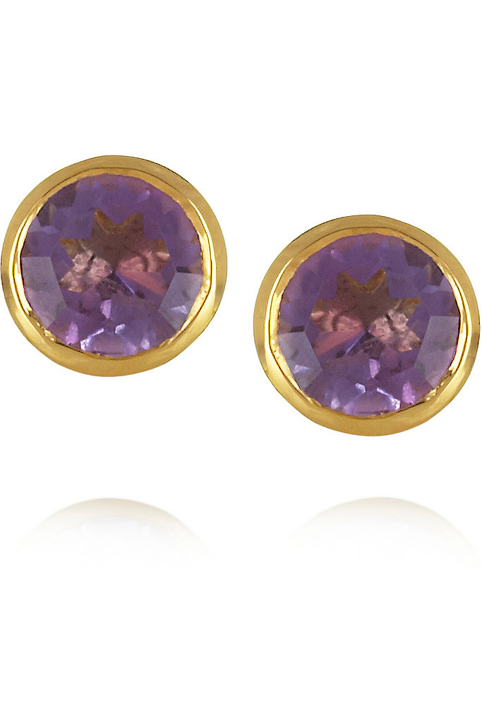 If you've insisted on matching jewelry for your bridal party, consider helping them out by gifting a pair. These Monica Vinader amethyst studs ($110) add just the right amount of color.