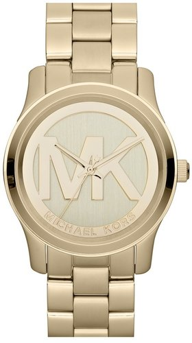 Michael Kors 'Runway' Logo Dial Bracelet Watch, 38mm