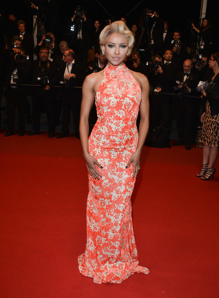 Kat Graham stopped for pictures on the Only God Forgives red carpet in Cannes on Wednesday.