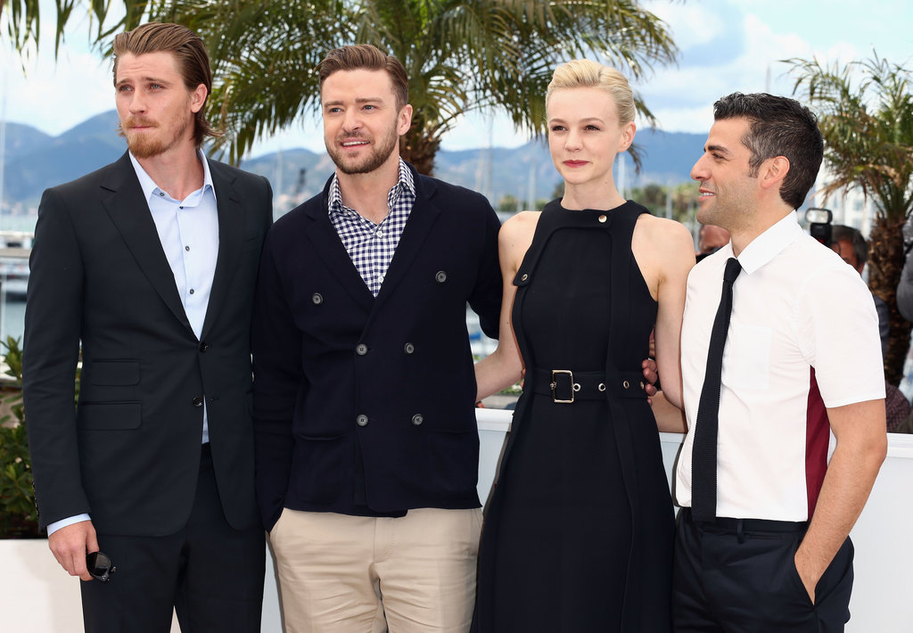 Garrett Hedlund, Justin Timberlake, Carey Mulligan and Oscar Isaac posed together at a photo call for Inside Llewyn Davis.