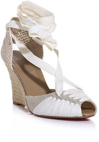 Christian Louboutin Cortico 85mm espadrille wedge sandals