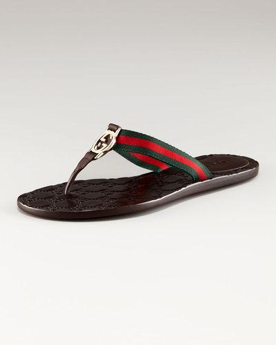 Gucci Gucci 'GG Nastro' Flat Thong