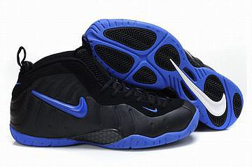 mens air foamposites pro basketball sneakers black and blue 26924