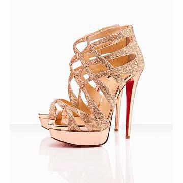 Christian Louboutin Balota 150mm Gold Evening Sandal 25841