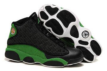 Michael Retro Jordan XIII Black and Green Men Sneaker