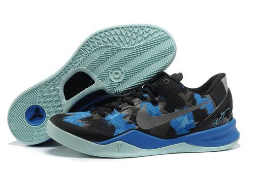 Nike Zoom Kobe VIII(8) Royal Blue/Black/Grey Mens 63059