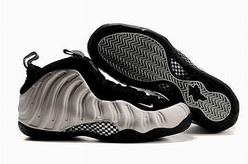 mens nike air foamposites one metallic silver and black shoes 2010 27015