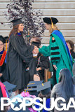 Eva Longoria graduated with a master's degree from California State University, Northridge.