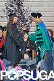 Eva Longoria graduated with a master's degree from California State University, Northridge.
