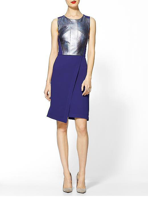 I love the detailing of this Rachel Roy Shift Dress! She knows how to make any lady feel like a million bucks! I'm into all shades of blue this Summer, and the metallic leather detail is so unique. This dress would be perfect for date night, when you want to show your curves.  See more Style Shortcuts